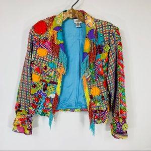 Sandy Starkman Bright Multicolor Blazer NWT Flaw